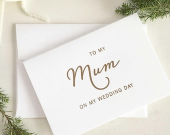 To My Mum On My Wedding Day, Card Mom, Gift Wedding, Card Mom, Of Bride Gift, For Mother Of Bride, To My Mother On My Wedding Day Card, Gold