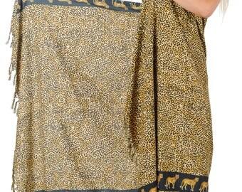 Soft Fabric Sarong Bathing Suit Pareo Wrap Bikini Cover up Swimsuit Swimwear -101233