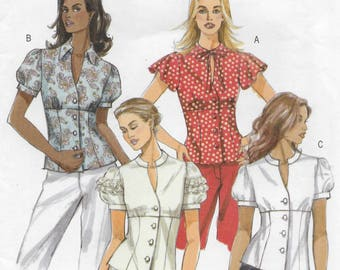 Butterick 4985 Misses Gathered Tops Sewing Pattern Size 14 to 20 Bust 36 to 42