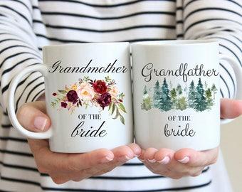 Wedding Mug, Engagement Mug Set, Gift for Grandparents, Grandma of the Bride, Grandpa of the Bride, Wedding Gift For Grandparents
