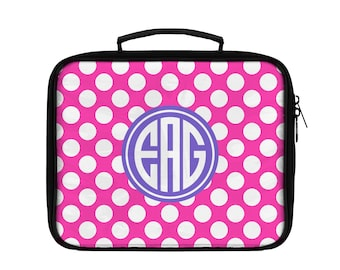Lunch Box, Personalized Lunch Box, Polka Dots, Polkadots, Dotted, Dots, Choose Your Colors