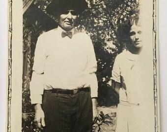 "Vintage Photo ""Grandfather Franklin"" Snapshot Antique Black & White Photograph Paper Found Ephemera Vernacular Interior Design Mood - 101"