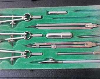 Architectural Drafting Tools - H. Kahn, Made in German, Collectible, Fathers Day, Display, Office, Man Cave, Gift Idea