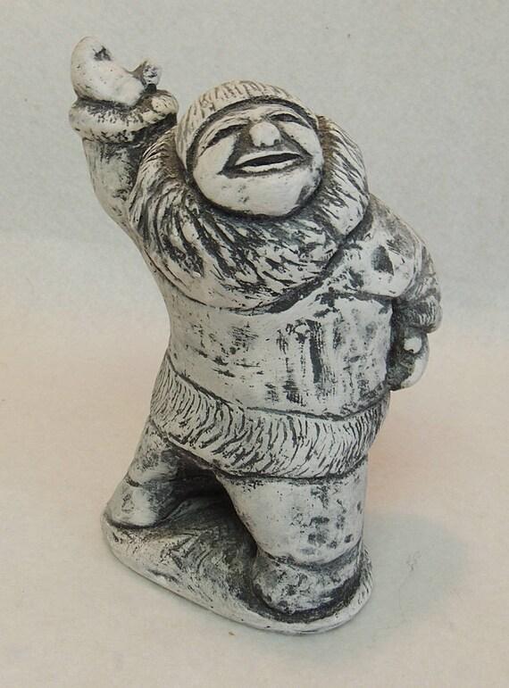 Handcrafted Alaskan Inuit Bekka Volcano Ash Eskimo Statue Figurine.. OLD MAN DANCING