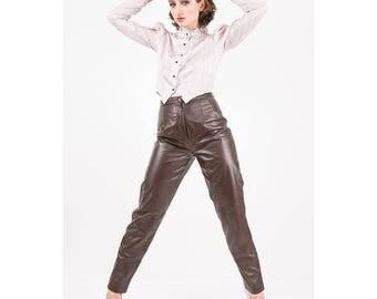 Vintage puff sleeve blouse / 1980s pale lavender lurex stripe Victoriana inspired modest / Leg o mutton sleeve / S M
