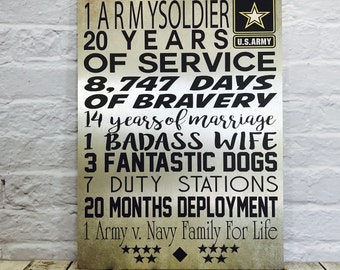 Military Gift, Soldier sign, US Army Retirement Gift, US Navy, Retirement Gift, Army sign, navy, Marines, air-force, military wall decor