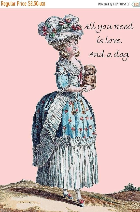 Marie Antoinette. Dog Lover. Love. Dog Postcard. Dog Card. Dog Gifts For Her. Pretty Girl Postcards. Dog Stationery. Dog Lover Gift. Dogs.