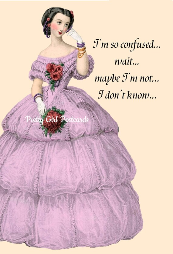 Marie Antoinette Postcard. Marie Antoinette Card. Stationery. Funny Quote. Funny Saying. Pink. Purple. Marie Antoinette Dress. Postcards.
