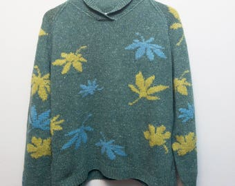 Vintage Weed Wool Sweater / Size Large-XL