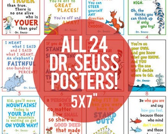 "5x7"" - Pack of 24 Dr. Seuss LDS Youth DIGITAL Printable Posters"