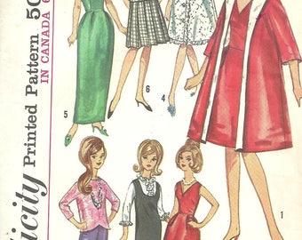 "1964 Simplicity Doll Clothes Pattern No. 5731, Tressy Wardrobe Pattern, Barbie Midge Patterns, 11 1/2"" Teen Doll Pattern, Free USA Shipping"