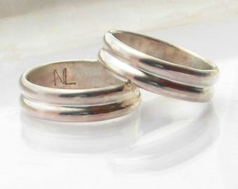 Gold Wedding Band, 14 K or 18 K Yellow Gold, Rose Gold, White Gold, Double Round, Unisex Bands, Metalsmith Made Ring, Polished, Custom