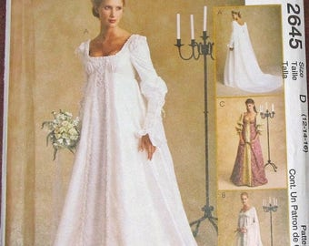 Vintage Alicyn Exclusives Sewing Pattern McCall's 8559 Bridal Dress Wedding Gown Keyhole Back Train Womens Size 8 10 12 Bust 31 32 34 UC FF