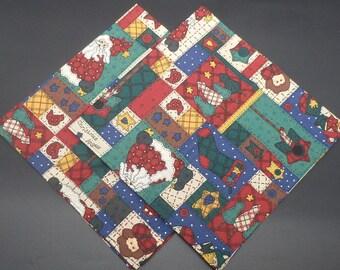 Country Christmas Patchwork, Christmas Dinner Napkins, Holiday Napkins, Hostess Gift, Christmas Gift, Christmas Wedding Gift