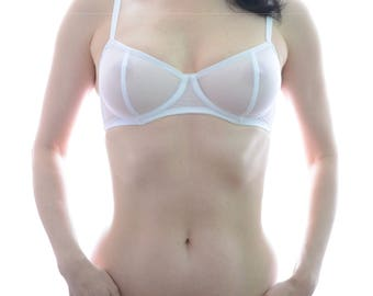 Women Sleepwear & Intimates Bras The Sheer Cup Underwire Tulle Bra MADE TO ORDER