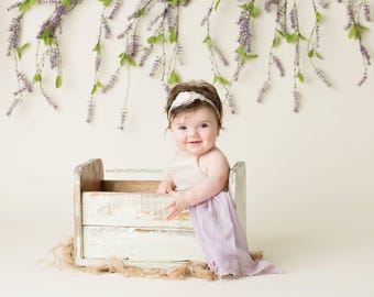 Newborn prop, baby bed prop, newborn crate, photography prop, newborn wooden bed, photo prop