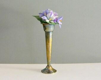 Vintage Silver Bud Vase - Gorham Flower Trumpet Vase