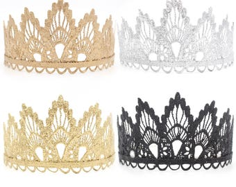 NEW Sienna lace TIARA || gold, rose gold, silver, or black || photography props