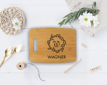 Cutting board - Monogrammed cutting board - engraved gift