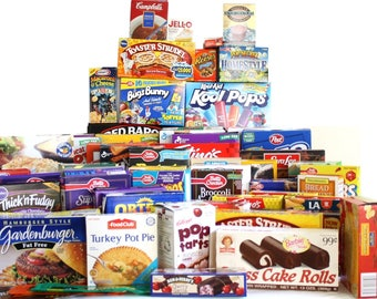1990s Food Packaging, Empty Cereal Boxes, Real Grocery Packages, 77 Boxes