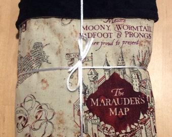 Harry Potter Marauders map baby blanket
