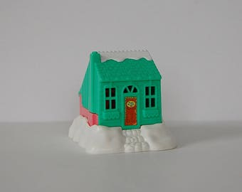 Polly Pocket Toy, Compact Chalet House, Vintage Polly Pocket Playset Bluebird, 90's Green and Pink Polly Pocket House