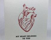 My Heart Belongs to You Letterpress