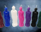 Full Body Male Tall Figure Image Candle U PICK COLOR ~ Full Moon Candles Made USA