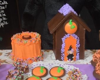 "Chocolate Halloween House Play Food 18"" AG or Bitty Doll Halloween Party Treat"