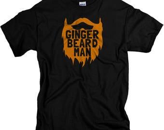 Ginger Beard Man Tshirt - Stocking Stuffers for Men - Gifts for Redheads - T Shirt