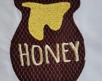 Honey Pot Embroidered Quilt block
