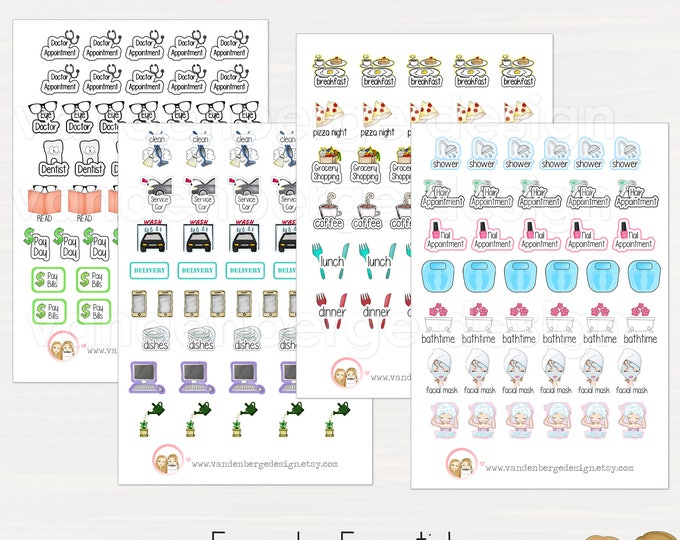 Everyday Essentials Planner Stickers - Perfect for all planners!