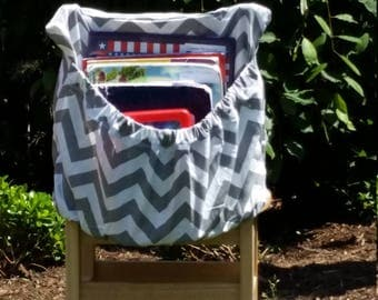 Grey ChEvRoN  // Chair Pockets // Teacher Classroom Storage // Seat Sacks  <<16 inch PREMIUM>> End of Year SALE CoffeeKidsNDolls