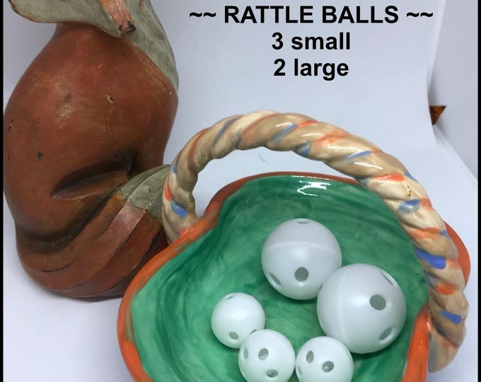 Noisemaker Sampler #5 // RATTLE BALLS sm lg  // Baby // Cat Toys // Dog Toys // Noise Makers // Craft Supplies // Toy Making // Toys