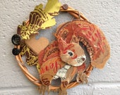Mixed Media Red Squirrel ...