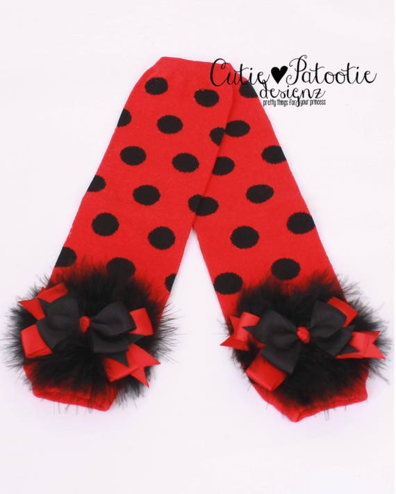 Il_570xn  sc 1 st  Catch My Party & READY TO SHIP: Ladybug Leg Warmers - Red u0026 Black - Polka Dot with ...