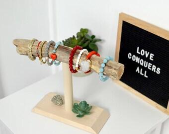 Driftwood Bracelet Stand Holder Display