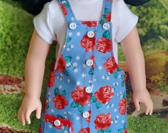Faux Button Front Jumper and T-shirt for 14.5 Inch Dolls such as WellieWishers™