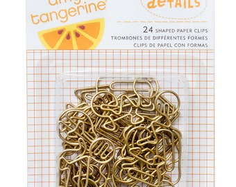 Amy Tangerine Rise and Shine - Shaped Paper Clips  -- MSRP 6.00