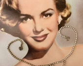 Vintage Style Jewelry, Retro Jewelry Pretty 1950s Rhinestone Necklace $24.00 AT vintagedancer.com