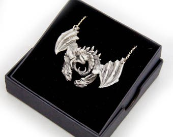 Dragon Embrace Pewter Pendant