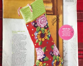 Floral Christmas Stocking Pattern