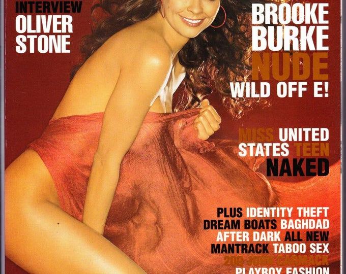 Playboy Magazine November 2004 with Wild On's Brooke Burke, MTV Star Cara Zavaleta, Oliver Stone, Doom 3 Creator John Carmack