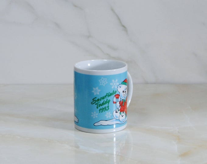Vintage 1993 Snowflake Teddy Coffee Cup/Mug from Walmart