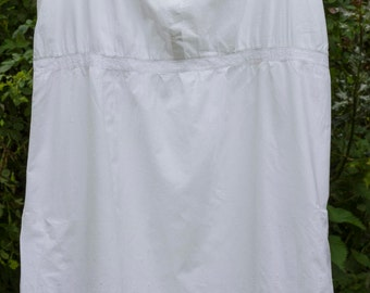 vintage white cotton underskirt/sundress with broderie anglais detail.