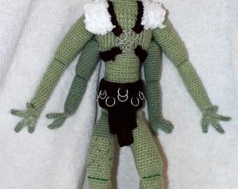 A Green Man of Mars, Edgar Rice Burroughs, crochet amigurumi Thark