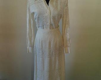 Vintage Lace two-piece formal dress