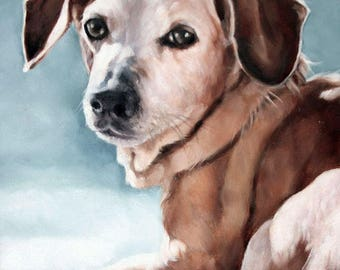 Pet Oil Painting, Custom Pet Portrait, 8x10, Animal Painting, Custom Dog Portrait, Custom Pet Oil, Original Art