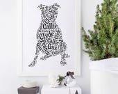 Custom Pit Bull Art | Personalized Pitbull Art Print | Pitbull Home Decor | Pitbull Wall Decor | Pit Bull Art Print | Pitbull Memorial Gifts