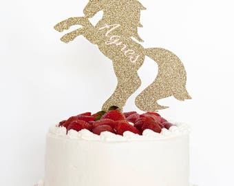 Personalized Unicorn Cake Topper